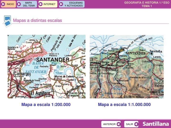 Mapas a distintas escalas