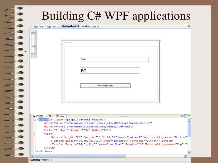 Building C# WPF applications