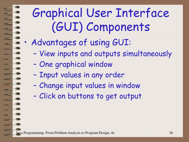 Graphical User Interface (GUI) Components