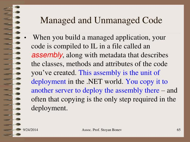 Managed and Unmanaged Code