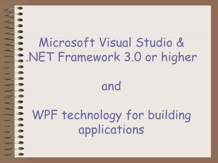 Microsoft Visual Studio &