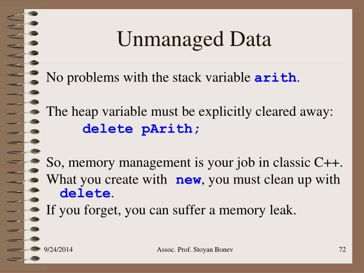 Unmanaged Data