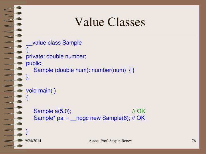 Value Classes