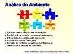 an lise do ambiente