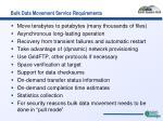bulk data movement service requirements