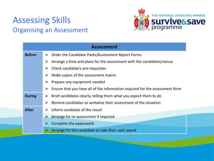 Assessing Skills