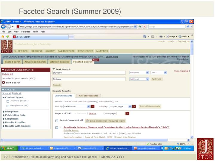 Faceted Search (Summer 2009)