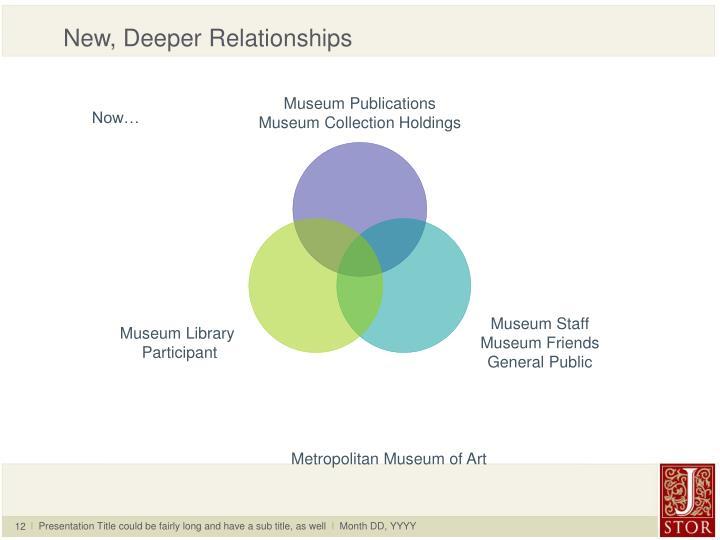 New, Deeper Relationships