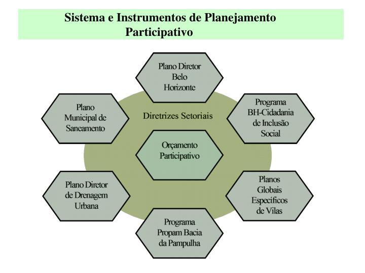 Sistema e Instrumentos de Planejamento
