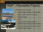 femp renewable projects