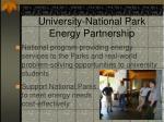 green energy parks university national park energy partnership