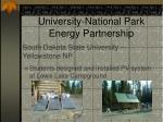 green energy parks university national park energy partnership4