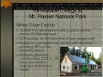 renewable energy at mt rainier national park