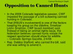 opposition to canned hunts1