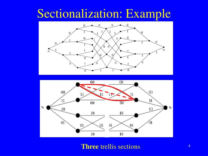 Sectionalization: Example