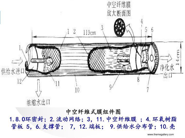 中空纤维式膜组件图