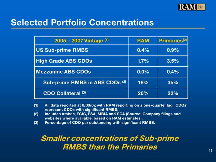 Selected Portfolio Concentrations