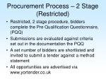 procurement process 2 stage restricted
