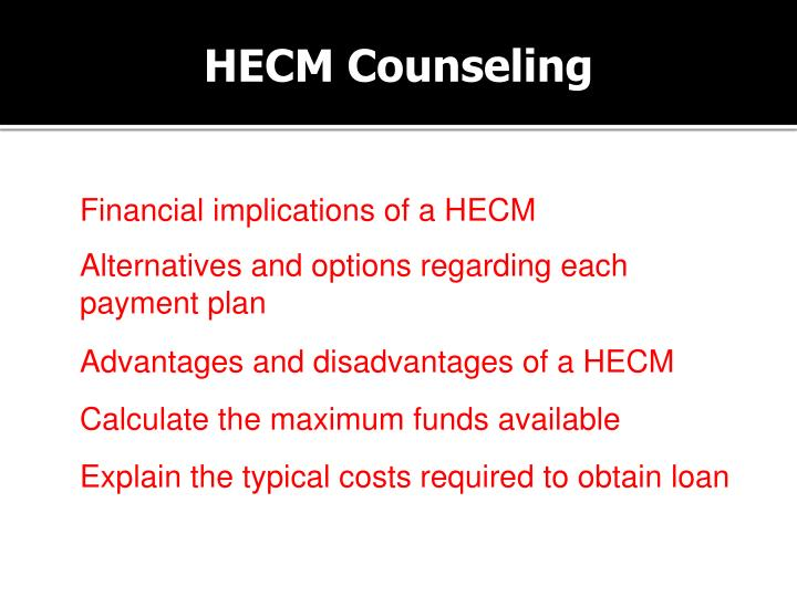 HECM Counseling