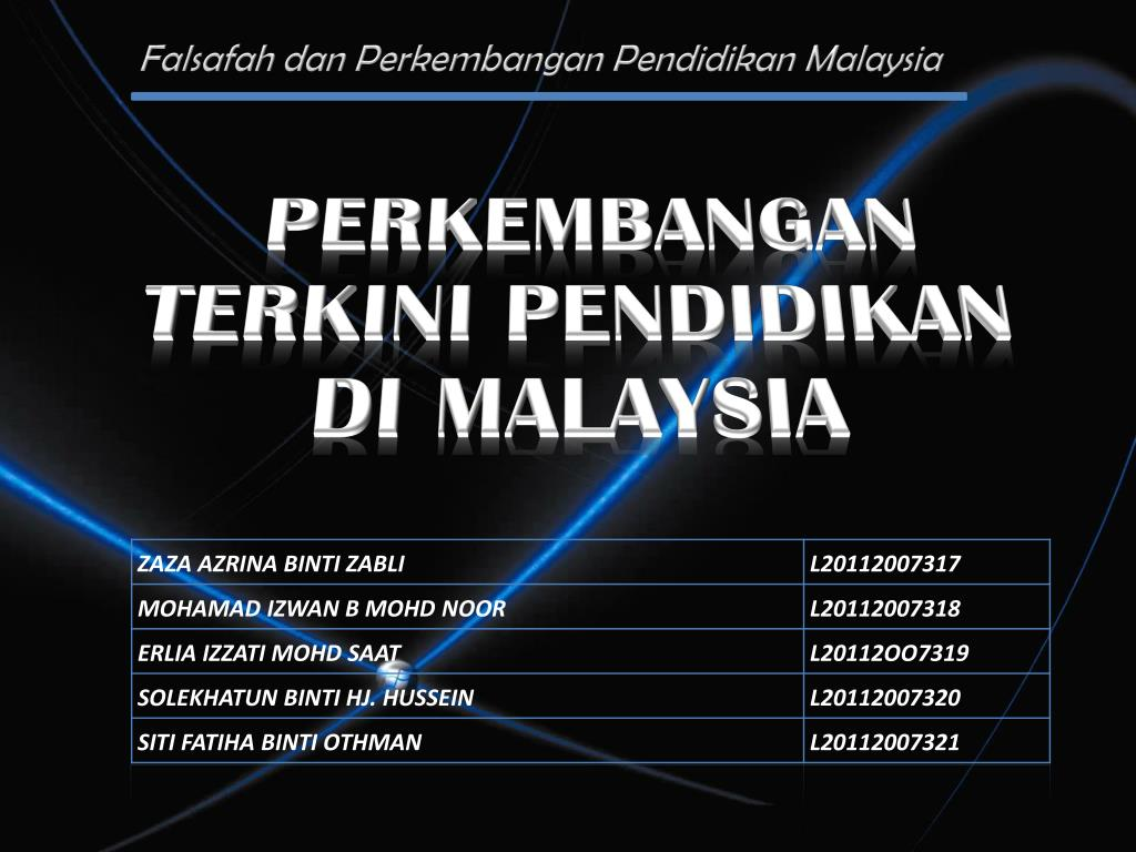 Ppt Perkembangan Terkini Pendidikan Di Malaysia Powerpoint Presentation Id 4786778