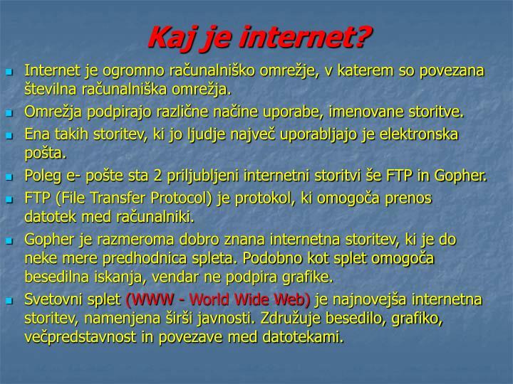 Kaj je internet