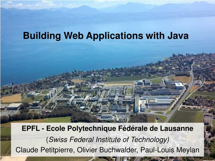 building web applications with java n.