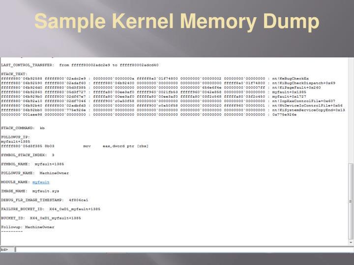 Sample Kernel Memory Dump