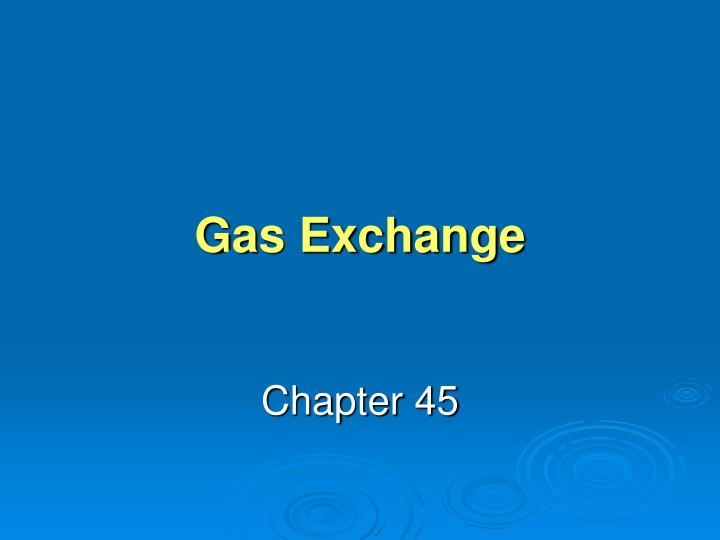 gas exchange n.