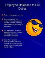 employee released to full duties