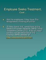 employee seeks treatment cont1