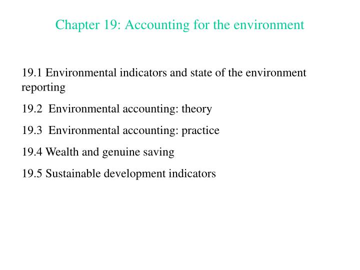 chapter 19 accounting for the environment n.