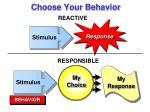 choose your behavior