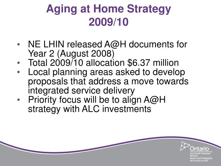Aging at Home Strategy
