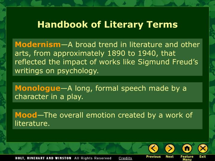 Handbook of Literary Terms