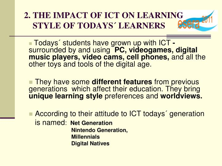 impact of ict on learning Impact of ict on the teaching and learning process doi: 109790/0050-03020107 wwwiosrjournalsorg 2 | page.
