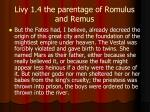 livy 1 4 the parentage of romulus and remus
