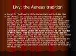 livy the aeneas tradition