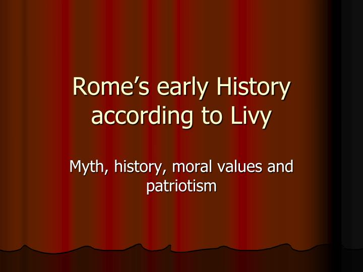 rome s early history according to livy
