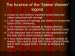 the function of the sabine women legend