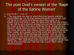 the poet ovid s version of the rape of the sabine women