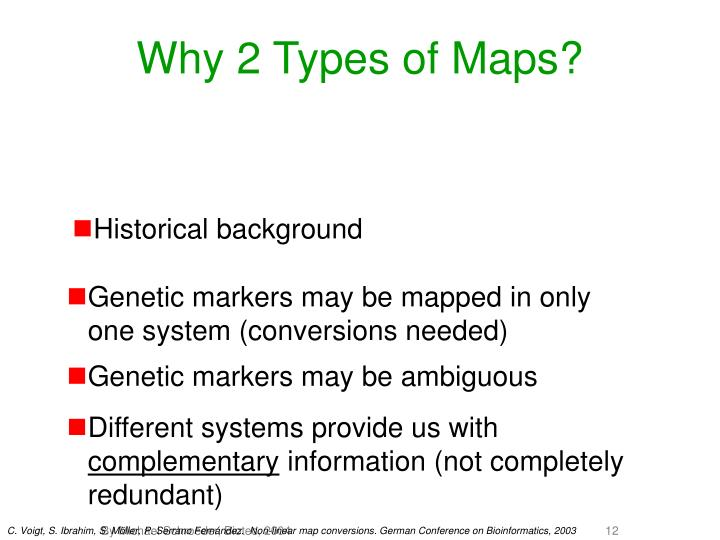 Why 2 Types of Maps?