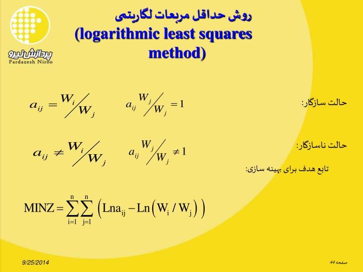 روش حداقل مربعات لگاریتمی