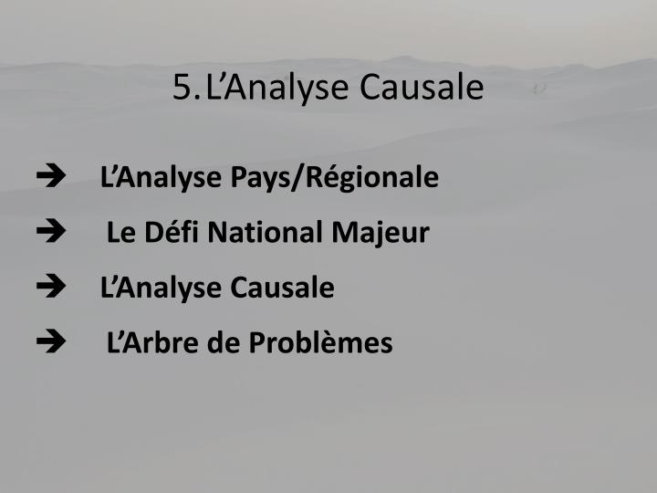 5.L'Analyse Causale