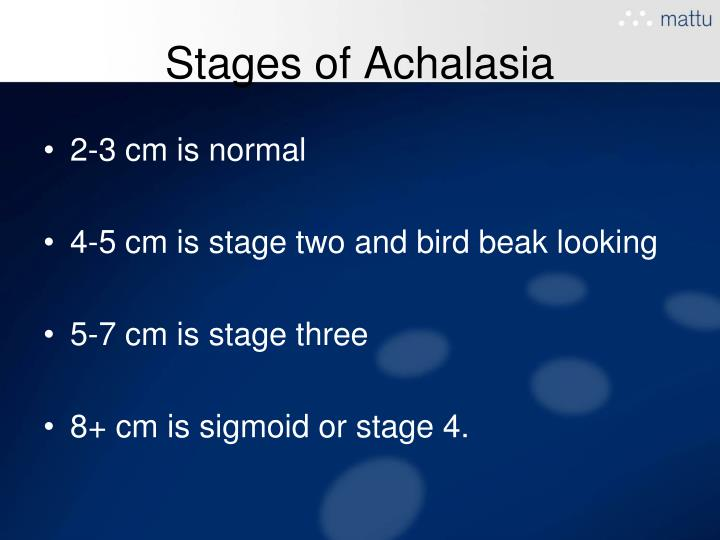 Stages of Achalasia