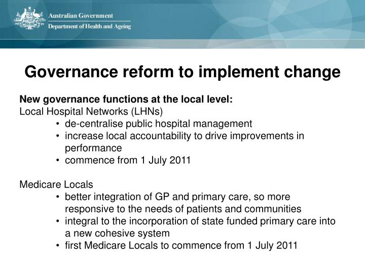 New governance functions at the local level: