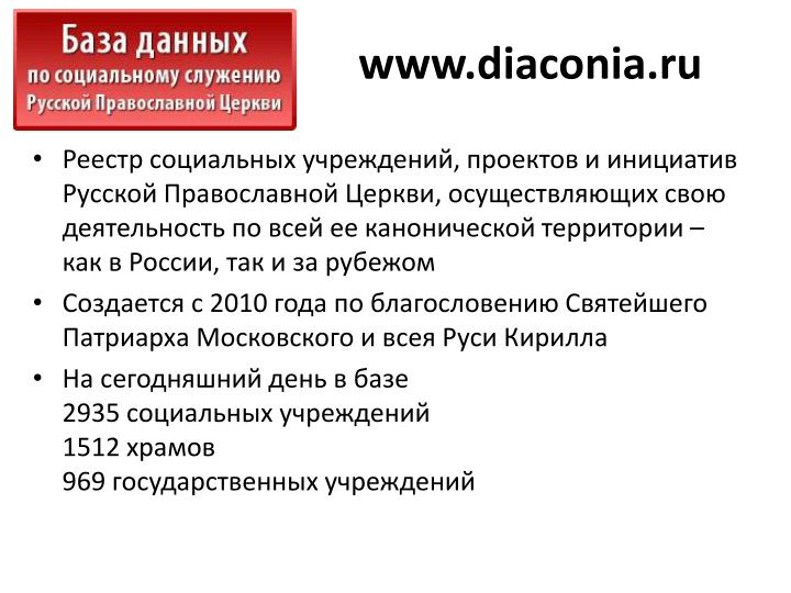 www.diaconia.ru