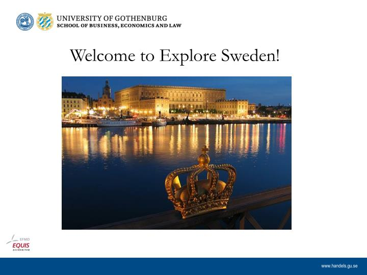Welcome to Explore Sweden!