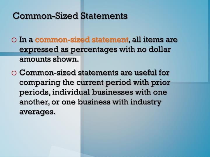 Common-Sized Statements