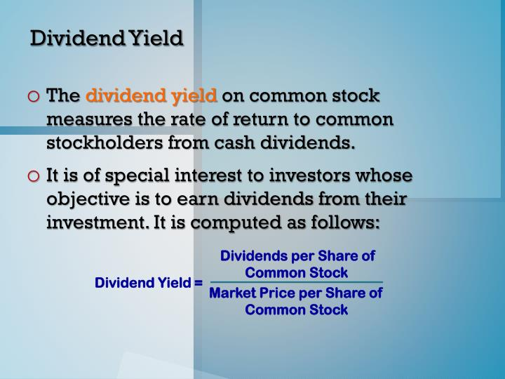Dividends per Share of Common Stock