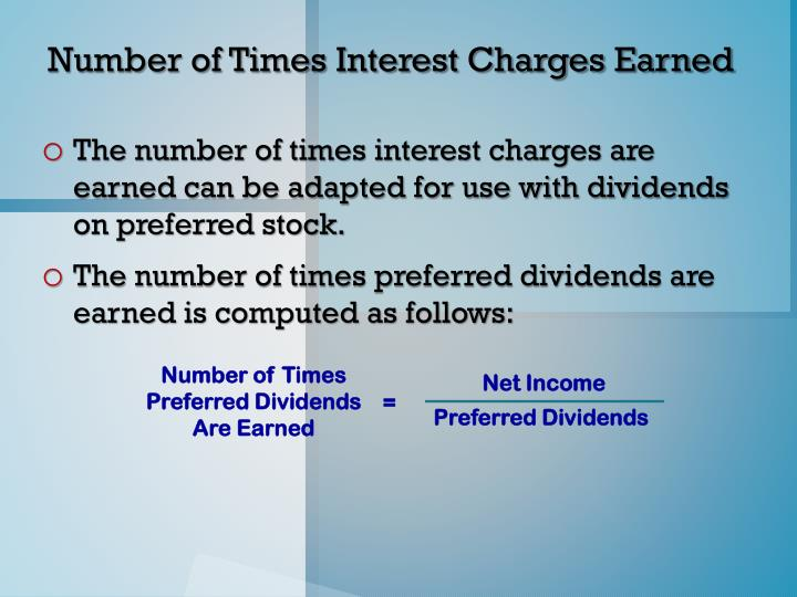 Number of Times Preferred Dividends Are Earned